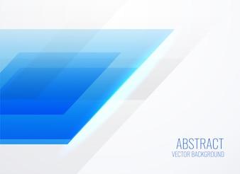 Abstraktes geometrisches blaues Schablonendesign