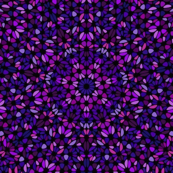 Abstraktes geometrisches buntes blumenmosaikmuster
