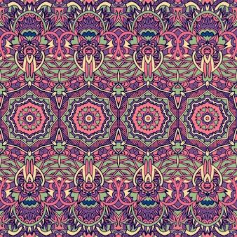Abstraktes geometrisches buntes nahtloses mandalamuster