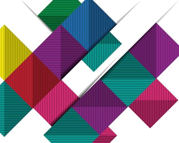 Abstraktes geometrisches design 3d