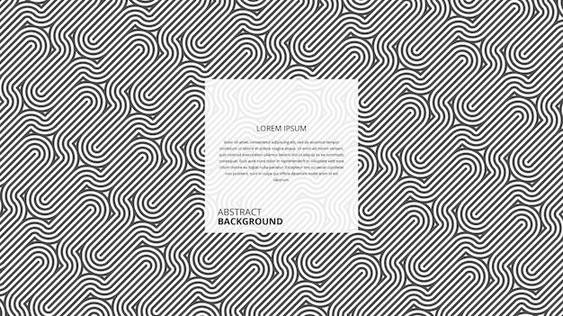 Abstraktes geometrisches diagonales kurviges formlinienmuster