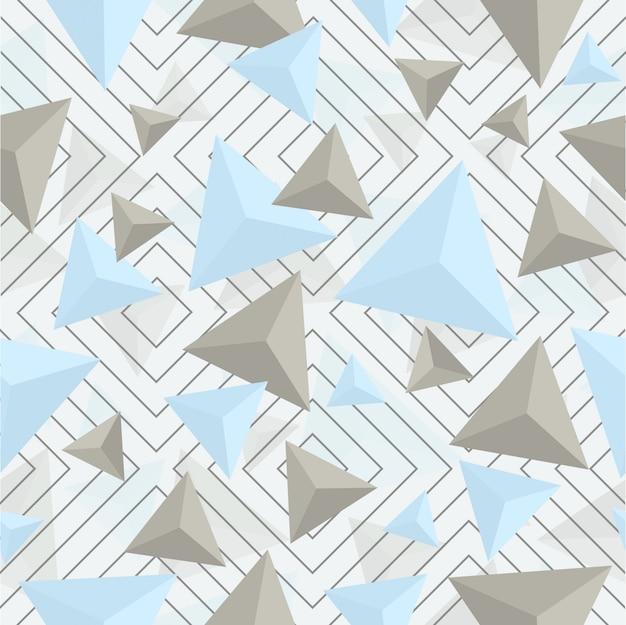 Abstraktes geometrisches dreieck und quadratisches nahtloses muster