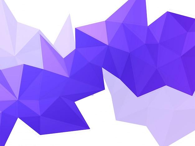 Abstraktes geometrisches element in lila niedriger polyform.