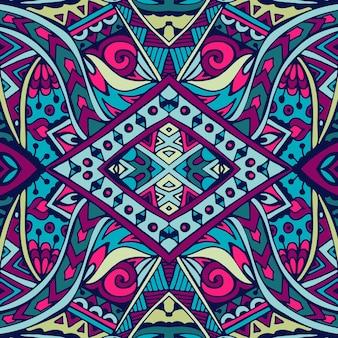 Abstraktes geometrisches ethnisches nahtloses muster des stammesvektors dekorativ
