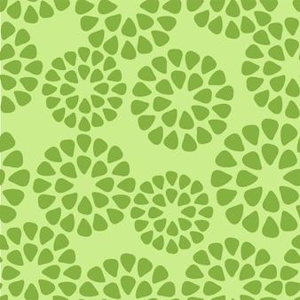 Abstraktes geometrisches grünes muster. ein nahtloser vektorhintergrund