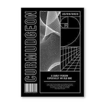 Abstraktes geometrisches konzept des plakats der 2000er jahre