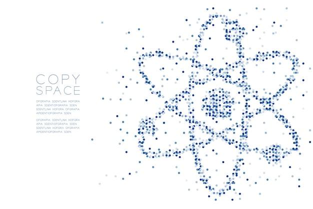 Abstraktes geometrisches kreispunktmuster atomsymbolform