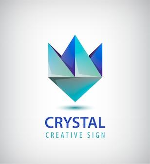 Abstraktes geometrisches kristalllogo