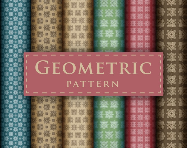 Abstraktes geometrisches luxusdesign der nahtlosen musterkollektion