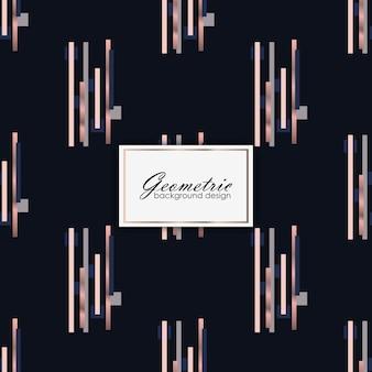 Abstraktes geometrisches luxusmuster mit goldenen elementen
