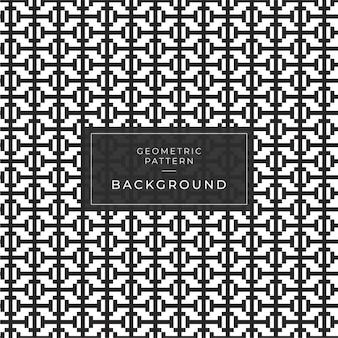 Abstraktes geometrisches muster mit streifen, linien. ein nahtloser spielhintergrund. schwarzweiss-beschaffenheit.