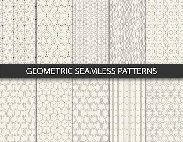 Abstraktes geometrisches muster. nahtloser hintergrund.