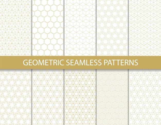 Abstraktes geometrisches muster. nahtloser vektor.