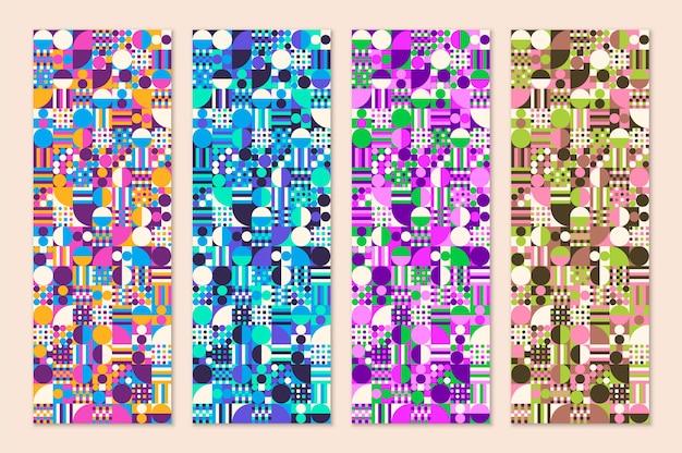Abstraktes geometrisches musterdesign in verschiedenen farben