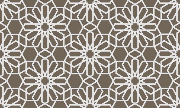 Abstraktes geometrisches nahtloses muster im arabischen stil