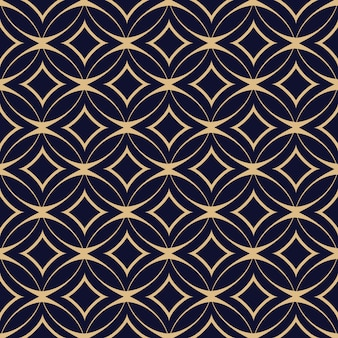 Abstraktes geometrisches nahtloses muster mit verflochtenen kreisen