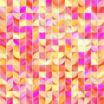 Abstraktes geometrisches nahtloses muster. netter mosaikhintergrund.
