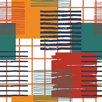 Abstraktes geometrisches nahtloses muster. vektorvorlage