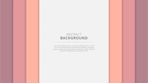 Abstraktes geometrisches schönes papercut hintergrunddesign