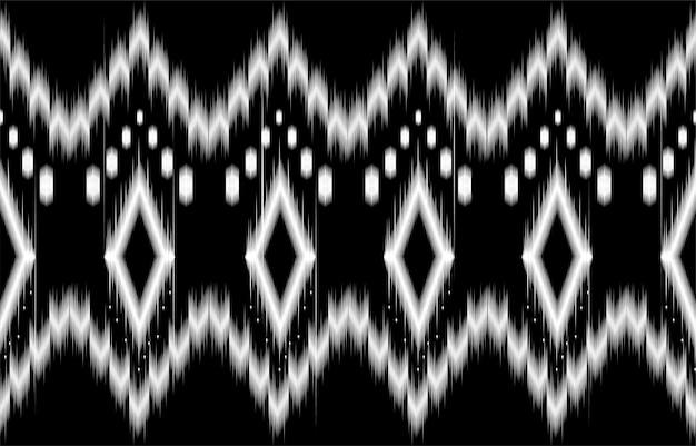 Abstraktes geometrisches schwarzweiss-muster nahtloses schwarzweiss. wiederholen des geometrischen