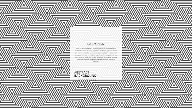 Abstraktes geometrisches zickzack-dreieckslinienmuster