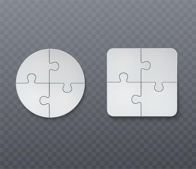 Abstraktes geschäftspuzzle.