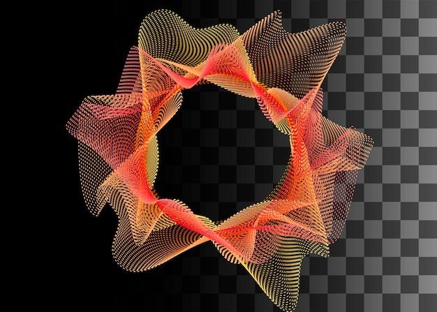 Abstraktes gestaltungselement orange und gelbe farbeffekt-vektorillustration auf transparentem hintergrund.
