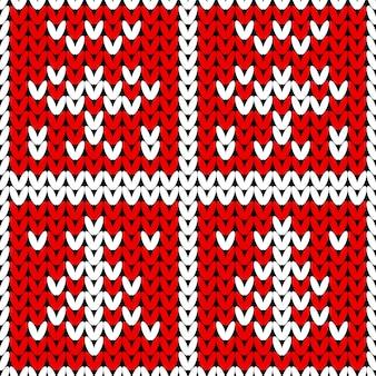 Abstraktes gestricktes weihnachtsmuster. nahtlos für frohe weihnachten stricken.
