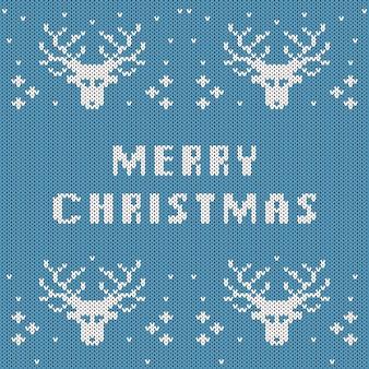 Abstraktes gestricktes weihnachtsmuster. strickbeschaffenheit für frohe weihnachten. se