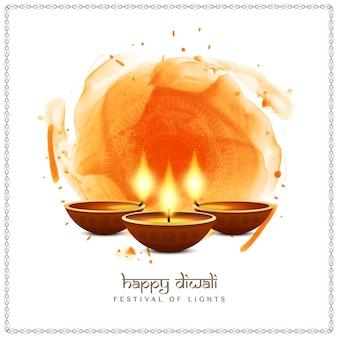 Abstraktes glückliches diwali-indisches festivalhintergrunddesign
