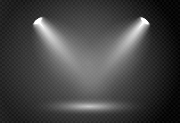 Abstraktes glühendes licht des scheinwerfers.