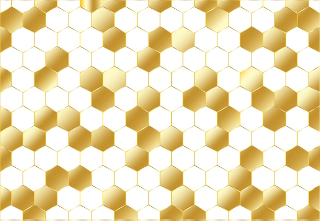 Abstraktes goldenes hexagonmuster