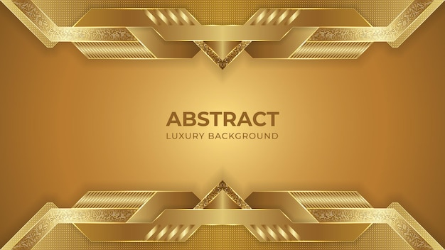 Abstraktes goldenes luxushintergrunddesign mit geometrischen formen