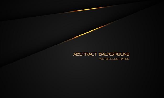 Abstraktes goldlicht auf schwarzem metallischem schatten überlappen sich mit dem modernen futuristischen hintergrund des leerraumdesigns.