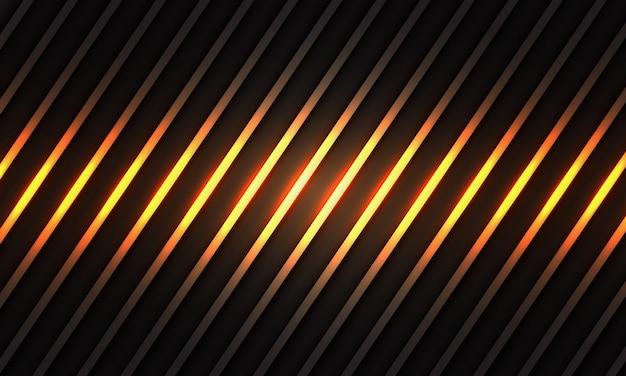 Abstraktes goldlichtlinienmuster auf der modernen luxus-futuristischen hintergrundbeschaffenheit des dunklen grauen metallischen entwurfs