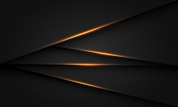 Abstraktes goldlichtschattendreieck dunkles metallisches design moderner futuristischer luxushintergrundvektor