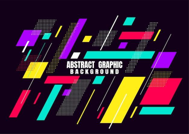 Abstraktes grafisches geometrisches formdesign für abdeckung