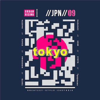 Abstraktes grafisches tokyo-japan-typografiedesign