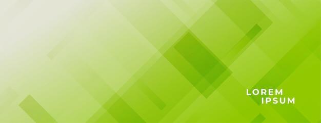 Abstraktes grünes breites banner mit linieneffekt