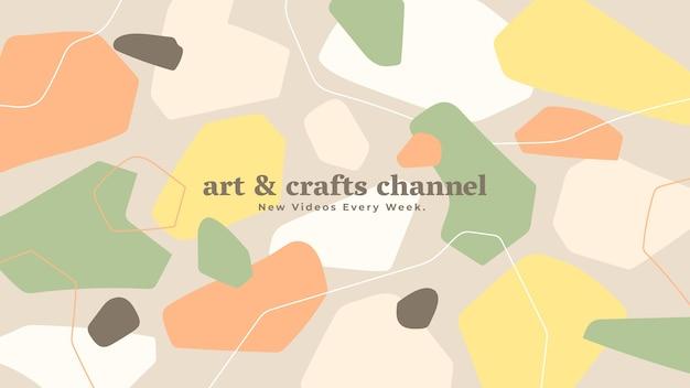 Abstraktes handgezeichnetes handwerk youtube kanal kunst