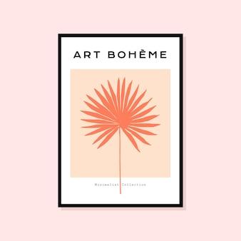 Abstraktes handgezeichnetes poster perfekt für die wandkunstsammlung