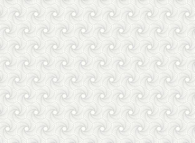 Abstraktes hexagon führt kunstmusterlinie details einzeln auf