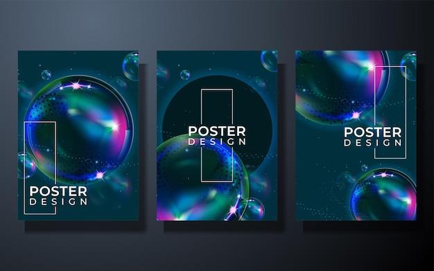 Abstraktes hintergrund-cover-design mit farbverlauf