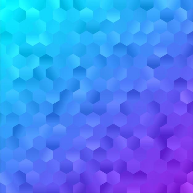 Abstraktes hintergrundbild. bunter dreieck polygon sechseck premium vektor