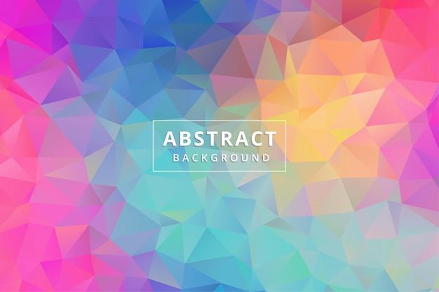 Abstraktes hintergrundbild. bunter polygon-sechseck-premiumvektor