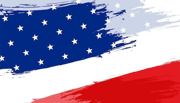 Abstraktes hintergrunddesign der amerikanischen flagge