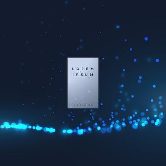 Abstraktes Hintergrunddesign der Technologiepartikel