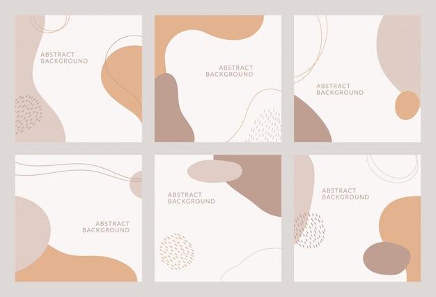 Abstraktes hintergrunddesign für social media insta story feed post. gekritzel kritzeln hand gezeichnetes objekt. kopierplatz für text. instagram square flyer banner