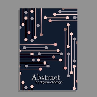 Abstraktes Hintergrunddesign mit geometrischen Elementen