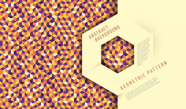 Abstraktes hintergrunddesign mit geometrischer beschaffenheit.